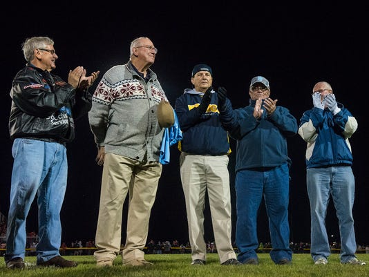 1966 state cross country champs honored at River Valley