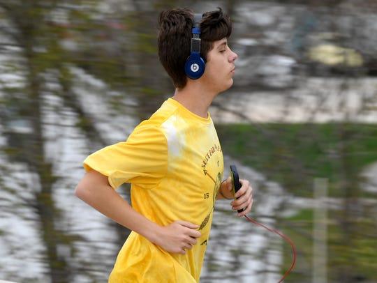 Huntingdon High School Cross County runner Zack Williams