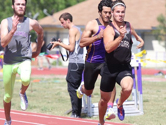 McMurry's Tanner Wright, right, will compete this week