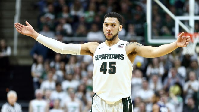 Denzel Valentine is a senior guard for Michigan State. This season he is averaging over 19 points a game. He also adds seven and a half rebounds and assists per game.