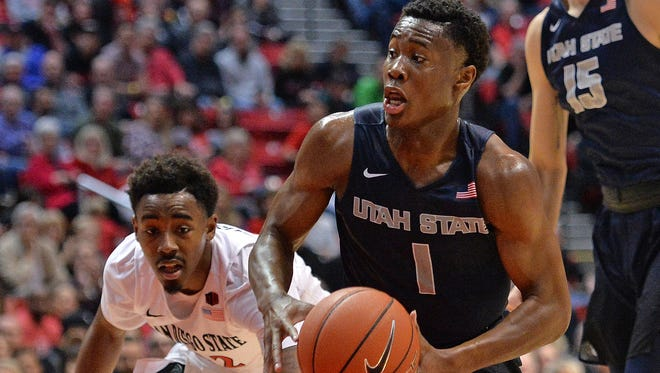 Utah State guard Koby McEwen has been one of the best players in the Mountain West.