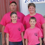 Mike and Anna Gudenkauf and their children, Greg and Maryann, hosted the Watertown Agri-Business Club's annual Father's Day weekend dairy breakfast on their farm inWatertown.