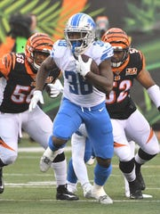 Rookie running back Tion Green rushed for 165 yards