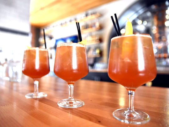 The Depot Punch is a riff on the traditional Picon punch. It adds more lemon juice to the mix, The Depot's housemade amer and a rye whiskey float instead.