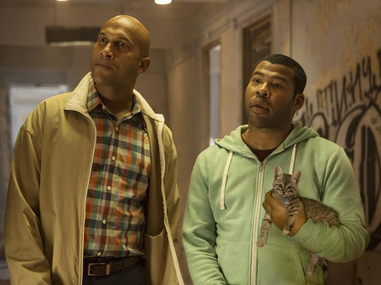 "Keegan-Michael Key, left, and Jordan Peele star in ""Keanu."""