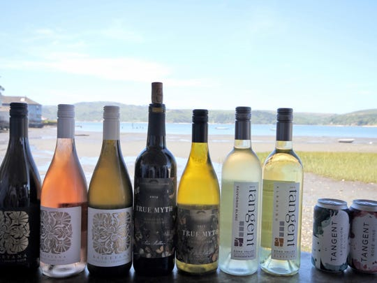 Releases from Niven Family Wine Estates of San Luis Obispo, Calif., on the Central Coast, take a bow at a lunch on Tomales Bay, a Pacific inlet in Marin County.