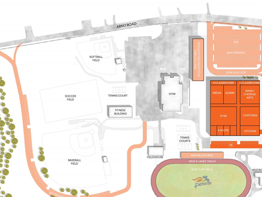 A rendering of phase two improvements at Page High