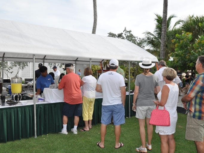 """On Saturday, July 26, the Naples Beach Hotel kicked off their annual, """"Summer Jazz on the Gulf"""" event. Hundreds of people gathered at the hotel to enjoy this free event. Food and drinks were available."""