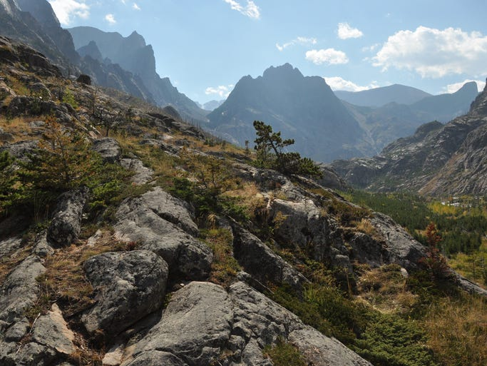 """Looking up the East Rosebud outlet to the famous """"Beaten Path' Trail in the Absaroka-Beartooth Wilderness."""