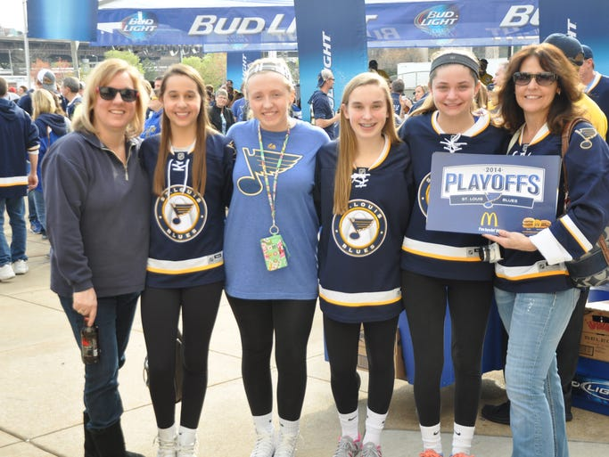 The St. Louis Blues hosted a pep rally Thursday afternoon before Game 1 of the NHL playoffs in St. Louis.
