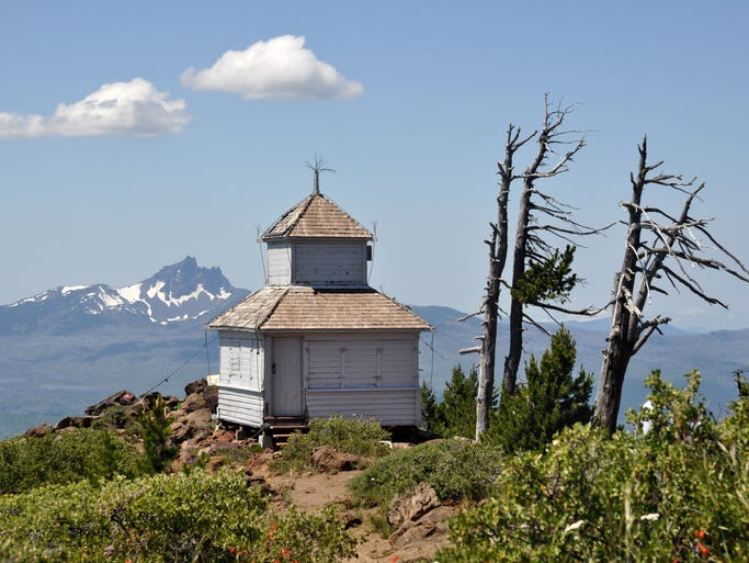 The old cupola lookout on Black Butte.