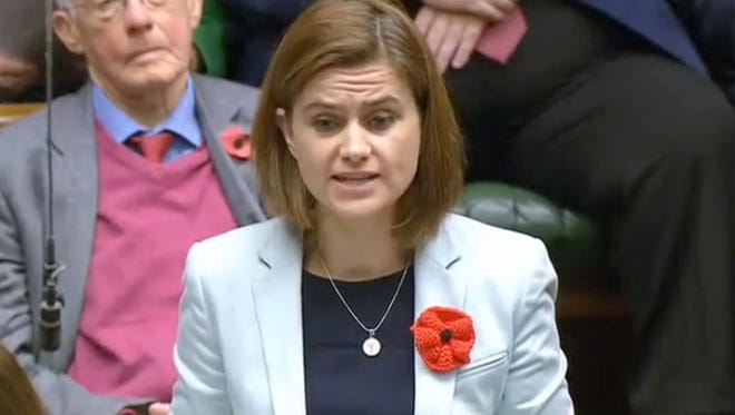 Labour party member of parliament Jo Cox speaks during a session in the House of Commons in central London on November 17, 2015.