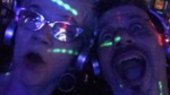 Headphone selfie at Silent Disco