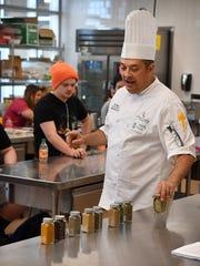 Regional Executive Chef Paul Sottile sets out a group