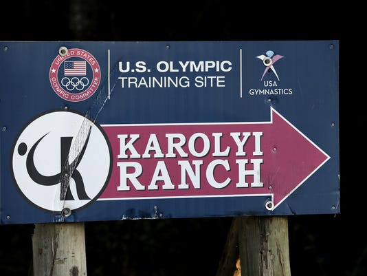 Karolyi Ranch sign