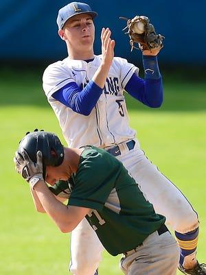 Lansing vs. Avon, NYSPHSAA Class A Baseball, Conlon Field, June 8, 2018.