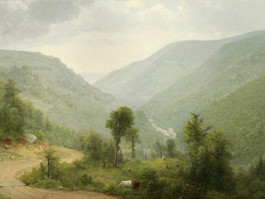 Asher Brown Durand (1796-1886). Catskill Clove, N.Y., 1864. Oil on canvas, 15 x 24 in. Collection of the New-York Historical Society, Gift of Nora Durand Woodman. 1932.14
