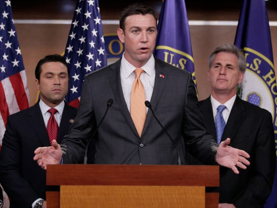 Rep. Duncan Hunter, R-Calif. center.