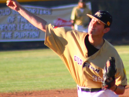 White Sands pitcher Logan Escudero threw eight solid innings in a 6-5 win over Santa Fe.