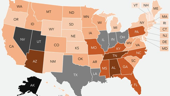 The United States of Toxins: This map shows the total pounds of toxic chemicals released into the environment by state. Indiana releases the sixth most chemicals of all states across the country, according to the U.S. Environmental Protection Agency's toxic release database.