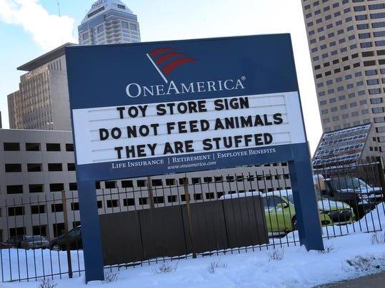 OneAmerica sign