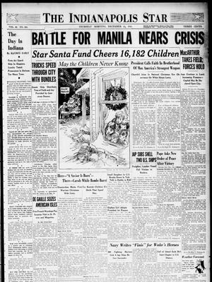 Dec. 24, 1941 Indianapolis Star front page