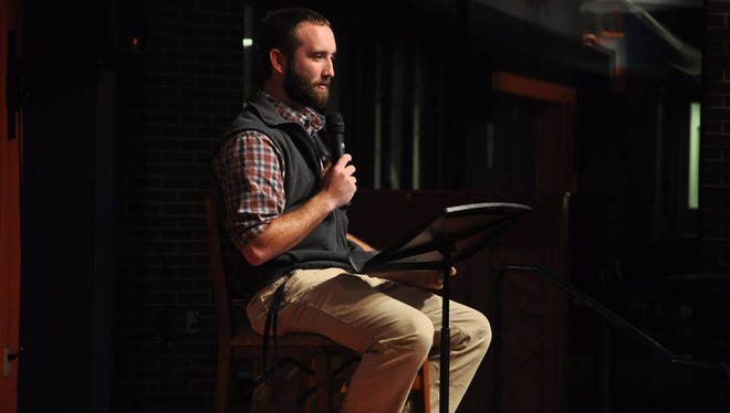 Caleb Funderburk, a May 2015 Louisiana College graduate from Florien, spoke to students at the Pineville college recently about his upcoming year-long mission trip to 11 countries.