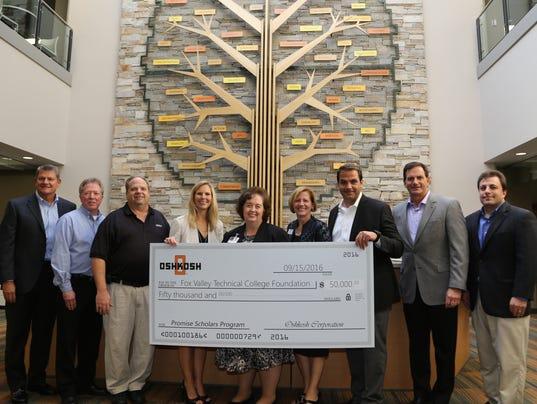 Oshkosh Corp. donates to FVTC Promise