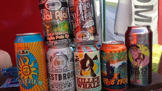 Cans received in a craft beer exchange at Bonnaroo.