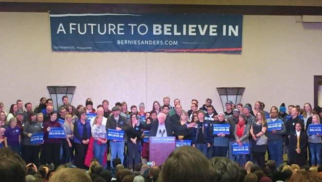 Bernie Sanders rally in Reno on Sunday.