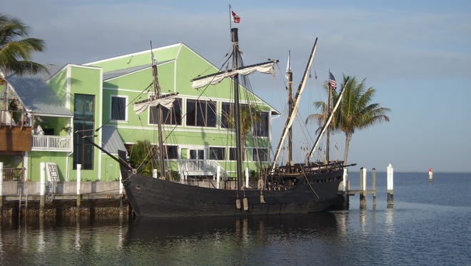 Replicas of Christopher Columbus' ships, the Nina and the Pinta, dock at Fisherman's Village this weekend.