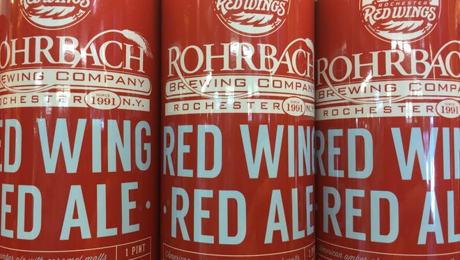Brewed exclusively for the Rochester Red Wings, Rohrbach's Red Wing Red Ale is now available in 16-ounce cans.