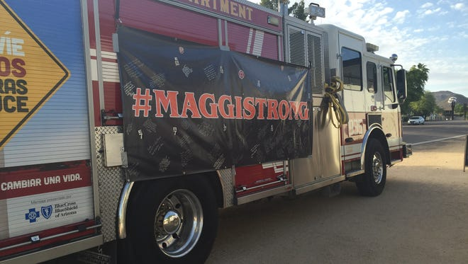 The Phoenix Fire Department has been a great supporter of Tayler Maggi's family. Both Maggi's dad and stepdad work in the department,