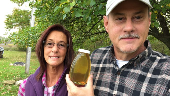 Tim and Darla Volke's bees produced prize-winning honey. They've been keeping bees since April 2015