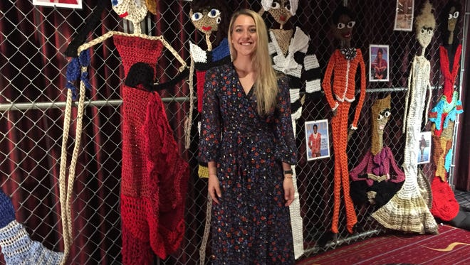 London Kaye, a featured designer at the 2017 Vogue Knitting Live, created a name for herself installing crocheted street art around Brooklyn, and eventually landing design jobs with corporations.