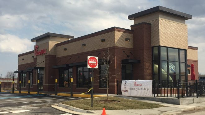 Chick-fil-A opens at 2055 W. Grand Rive Ave. in Meridian Township on Thursday.
