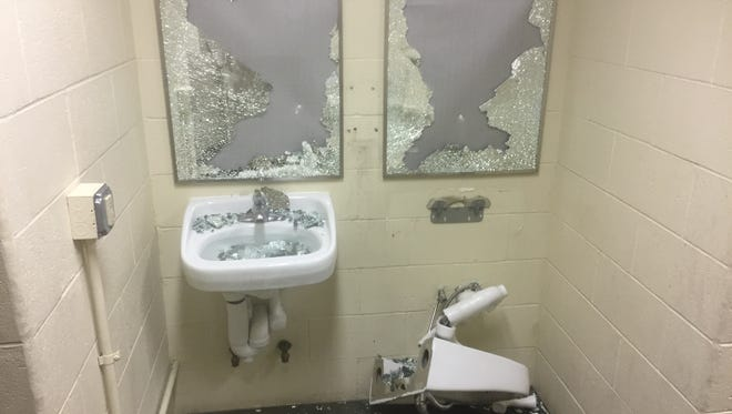 Vandals destroyed bathrooms at Central Park West Commons