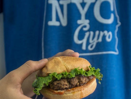 NYC Gyro, with their beef and lamb burger, is one of