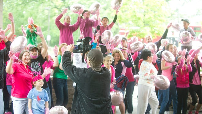 Agnesian Health Care filmed a portion of their Pink Glove Dance 2015 video outside the Cancer Center on Division Street on May 30. The video campaign is a national competition to raise awareness for breast cancer. The video with the most votes gets $25,000 for their cancer charity of choice.