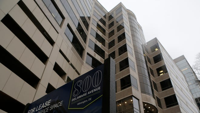 The building at 800 Delaware Ave. in Wilmington is shown Thursday. Officials for the Delaware Board of Trade said they are in talks to occupy the space, which sits on the western edge of downtown.