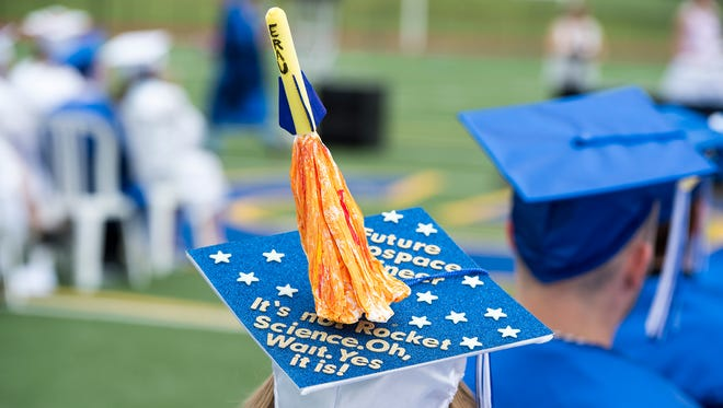 Greencastle-Antrim High School graduation on Saturday, June 4, 2016 at Kaley Field behind the Greencastle-Antrim High School.