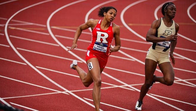 Gabrielle Farquharson finished her Rutgers career as a seven-time All-American.