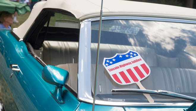 Locals car enthusisast gather to celebrate the Lincoln Highway Jubilee at Caledonia State Park.