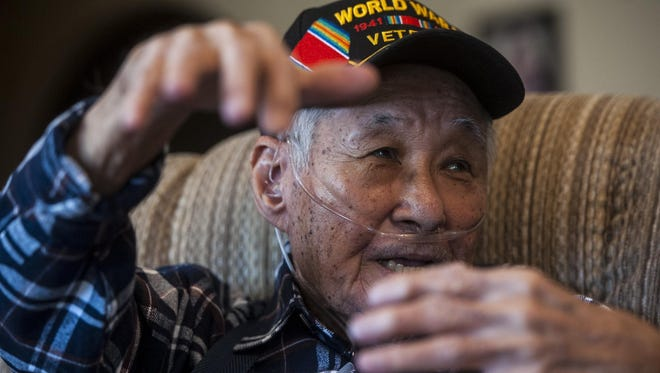 """Andrew Kim, who was a 15-year-old boy living in Pearl Harbor during the attack, recalls his experience in his Helena home. """"I was right outside the gate trying to get in. There were explosions. I watched USS Arizona burn for three days and three nights. USS Oklahoma was capsized; they tried to get the crew out by cutting a hole in the hull, day and night,"""" he said."""