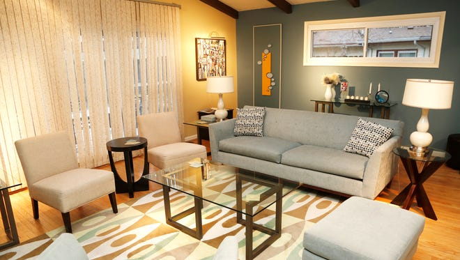 Comfortable living room Tuesday, January 10, 2017, in Diane Damico's West Lafayette home. Damico's Airbnb guests have access her entire house including the living room, kitchen and TV room.