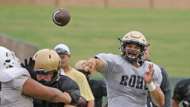 Senior quarterback Jorge Vargas and the Rider Raiders are excited to finally be making their 2017 debut at Memorial Stadium on Friday. They host state-ranked Kennedale.