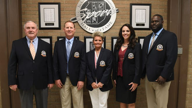 The 2018 Jackson-Madison County Sports Hall of Fame induction ceremony was held, Thursday, April 19, at the Carl Perkins Civic Center. Inductees included: Libby Cash, Brian Dunn, Jodie Parrish, Ivy Renfroe, and Ryan Scott.