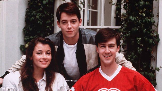 """(GANNETT PHOTO NETWORK) Cast members of the motion picture """"Ferris Bueller's Day Off."""" (Gannett News Service photo)"""