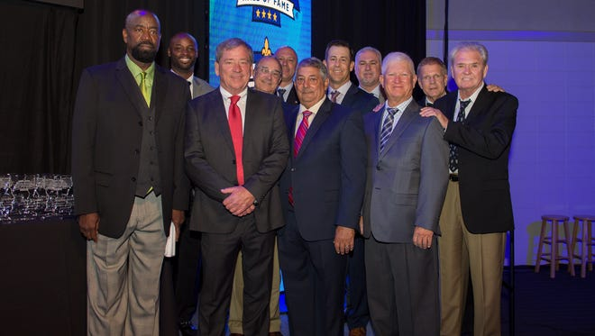 The 2018 class was inducted to the Louisiana Sports Hall of Fame on Saturday at the Natchitoches Events Center.