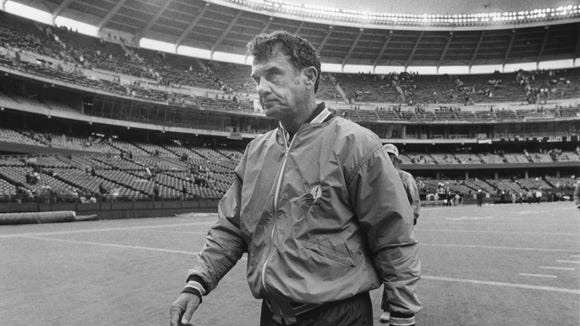 November 20, 1989 file photo of Chuck Studley as coach of the Houston Oilers. Photo by The Enquirer/Annalisa Kraft